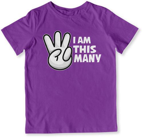 I Am This Many - 3 Years Old T-Shirt - TEP-1518