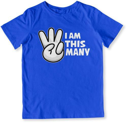 TODDLER TEE - I Am This Many - 3 Years Old - TEP-1518