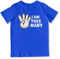 I Am This Many - 4 Years Old T-Shirt - TEP-1519