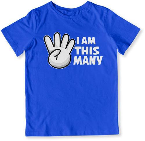 TODDLER TEE - I Am This Many - 4 Years Old - TEP-1519