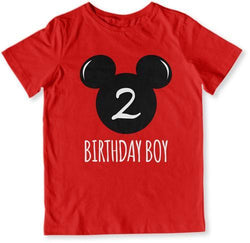 2nd Birthday Boy Mouse T-Shirt - TEP-1608
