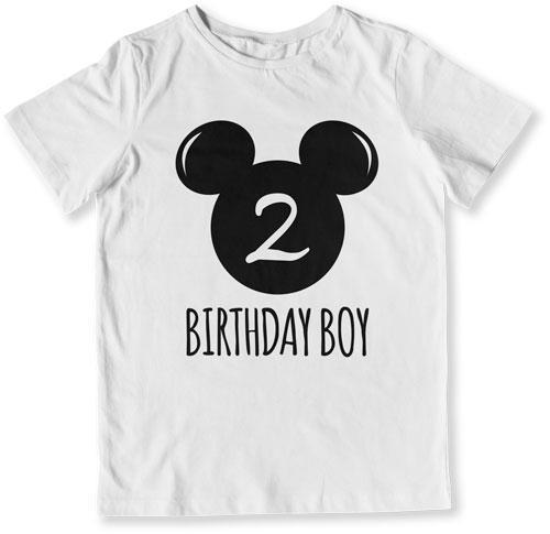 2nd Birthday Shirt Boy Mouse T