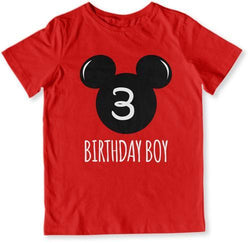 3rd Birthday Boy Mouse T-Shirt - TEP-1609