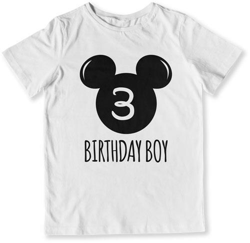 Toddler Birthday Gift 3rd Boy Mouse T Shirt
