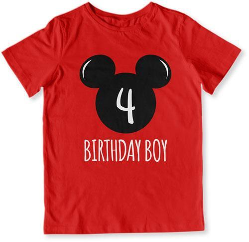 TODDLER TEE - 4th Birthday Boy Mouse - TEP-1610