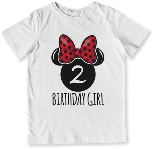 TODDLER TEE - 2nd Birthday Girl Mouse - TEP-1613