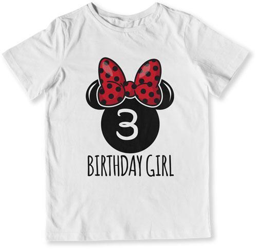 3nd Birthday Girl Mouse T-Shirt - TEP-1614