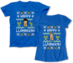 Happy Llamakkah Matching Shirts
