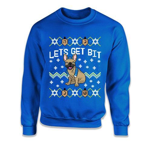 CREWNECK SWEATER - Let's Get Bit - French Bulldog - TEP-1715