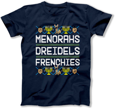 Menorahs Dreidels Frenchies - TEP-1717