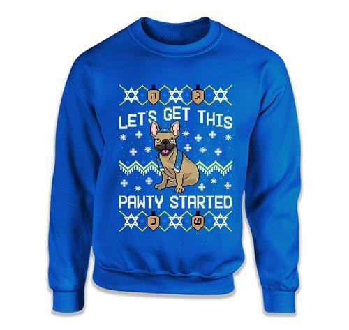CREWNECK SWEATER - Let's Get This Pawty Started French Bulldogs - TEP-1725
