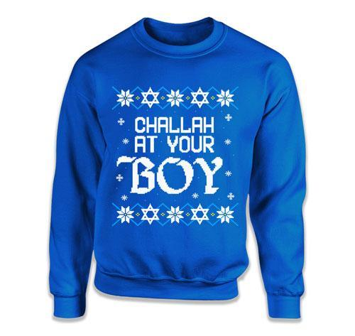 CREWNECK SWEATER - Challah At Your Boy - TEP-1728