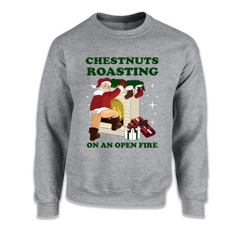 CREWNECK SWEATER - Chestnuts Roasting On An Open Fire - TEP-1744
