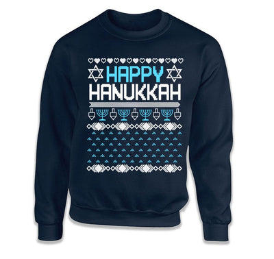Happy Hanukkah Ugly Christmas Sweater - TEP-1771