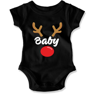 Reindeer-style Matching Christmas Shirts for Mama, Papa, and Baby