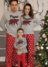 Family Christmas Pajamas for Mama, Papa, and Baby Bear