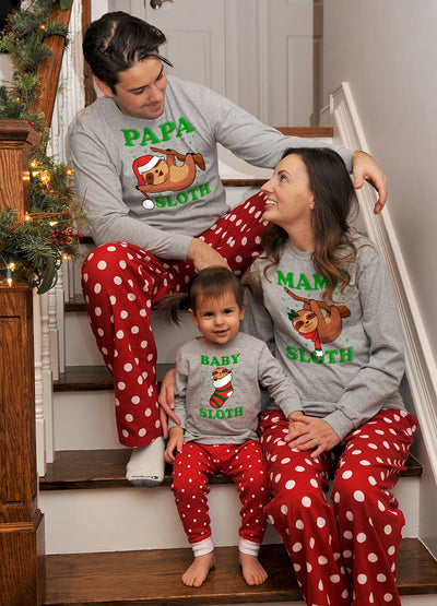 Sloth Family Pajamas