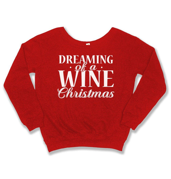 SLOUCHY SWEATER - Dreaming of A Wine Christmas - TEP-1906