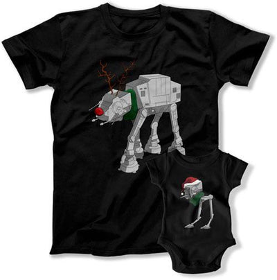 At-at At-st Matching Christmas Pjs