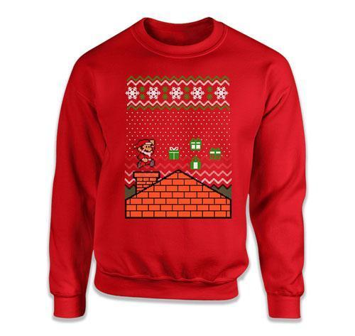 CREWNECK SWEATER - Ugly Christmas Video Game Santa - TEP-388
