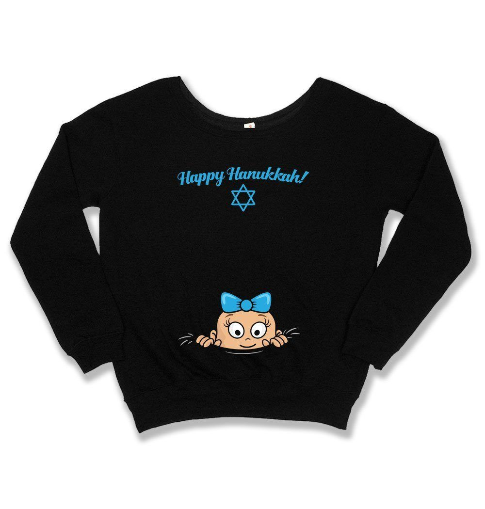 Hanukkah Pregnancy Sweater