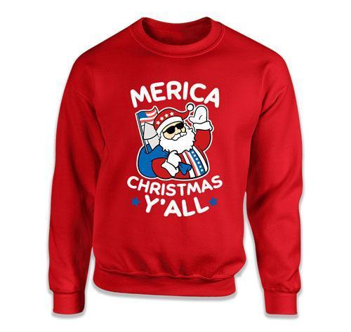 CREWNECK SWEATER - Merica Christmas Y'All - TEP-526