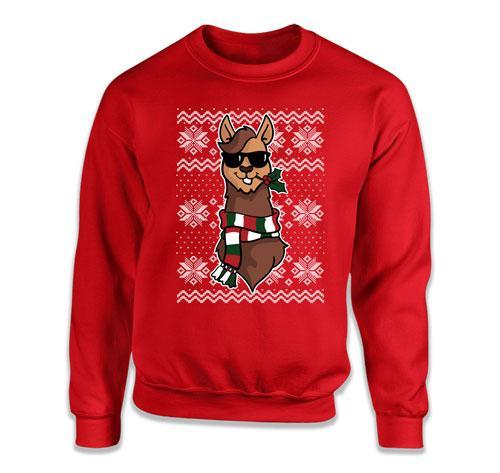 CREWNECK SWEATER - Llama Ugly Christmas Sweater - TEP-536