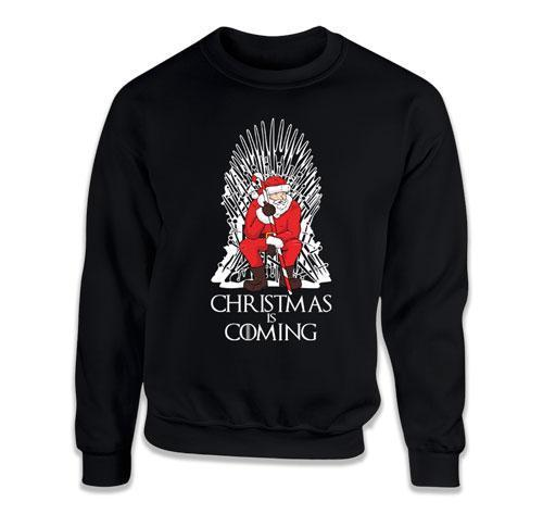 CREWNECK SWEATER - Christmas Is Coming With Santa - TEP-545