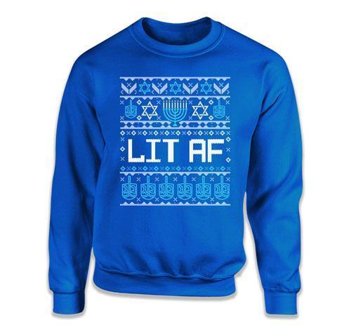 CREWNECK SWEATER - Lit AF Ugly Sweater - TEP-612