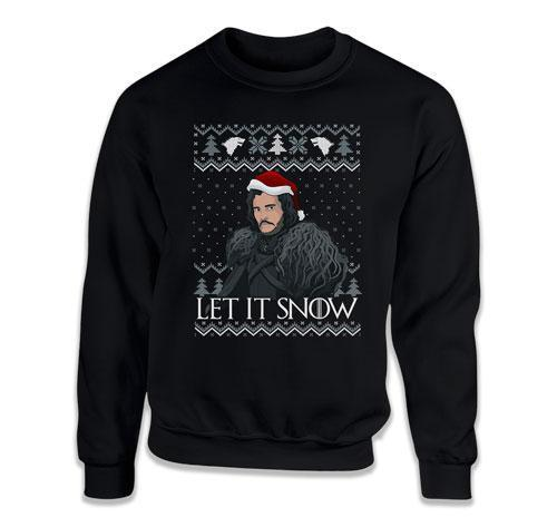 CREWNECK SWEATER - Let It Snow Ugly Xmas Sweater - TEP-646