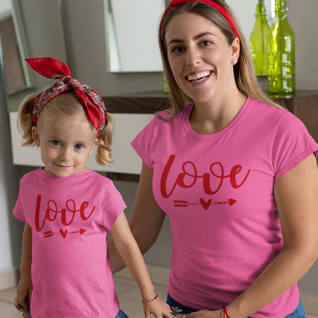 Love T-Shirts - Mommy And Me Outfits