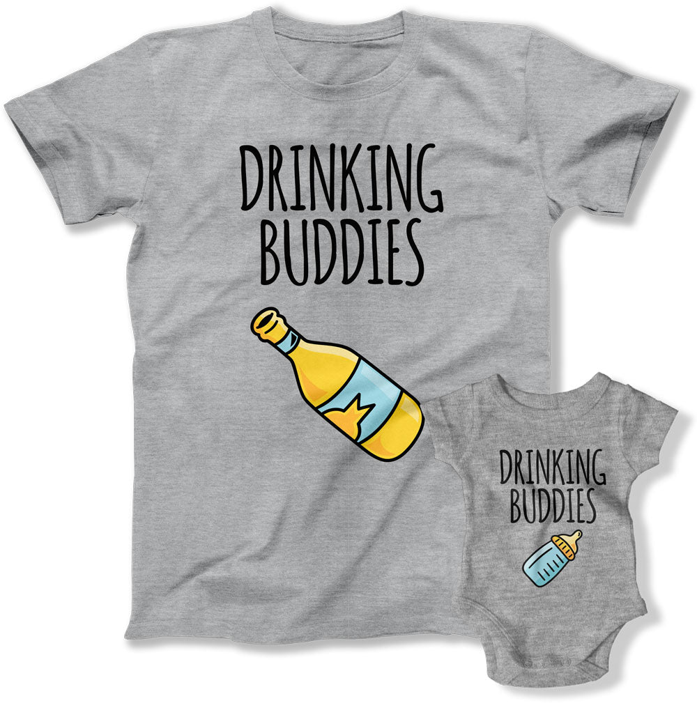 Drinking Buddies Matching Dad And Kid T Shirts