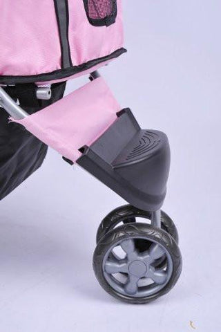 MDOG2 3-Wheel Front & Rear Entry MK0015A Pet Stroller (Pink) - Peazz.com - 7