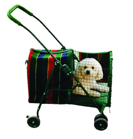 Kittywalk KWPS600 Original Stripe Stroller - Pet Stroller World - 1
