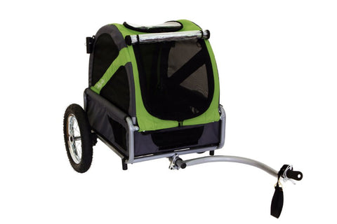 DoggyRide Mini Dog Bike Trailer Urban - Outdoors Green (DRMNTR02-GR) - Pet Stroller World - 2