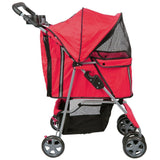 MDOG2 4-Wheel Front & Rear Entry MK0034 Pet Stroller (Red) - Peazz.com - 3