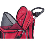 MDOG2 4-Wheel Front & Rear Entry MK0034 Pet Stroller (Red) - Peazz.com - 5