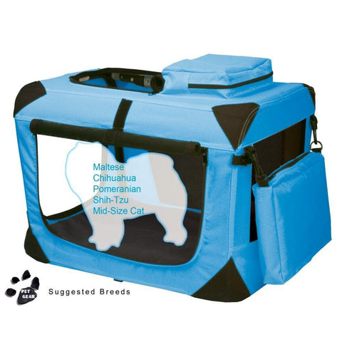 Pet Gear PG5521OB Steel / Soft Crates Ocean Blue Finish