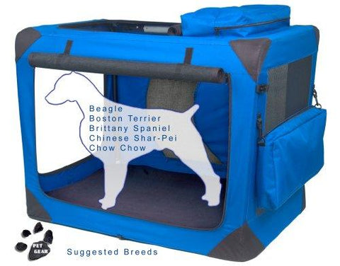 Pet Gear PG5536BS Steel / Soft Crates Blue Sky Finish