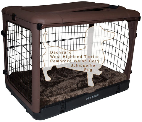 Pet Gear PG5927BCH Steel / Soft Crates Chocolate Finish
