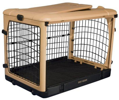Pet Gear PG5927TN Steel / Soft Crates Tan / Black Finish