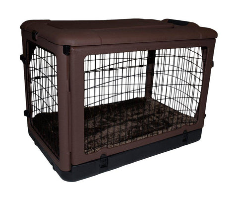 Pet Gear PG5936BCH Steel / Soft Crates Chocolate Finish