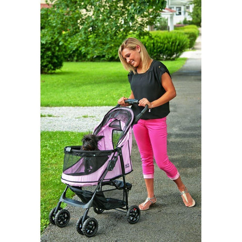 Pet Gear No-Zip PG8100NZPD Strollers Pink Diamond Finish