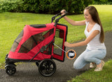 Pet Gear No-Zip PG8650NZCR Strollers Candy Red Finish