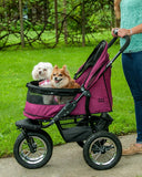 Pet Gear No-Zip PG8700NZBB Double Stroller Boysenberry Finish