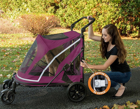 Pet Gear No-Zip PG8850NZBBA Strollers Boysenberry Finish