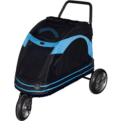 Pet Gear Roadster Pet Strollers - Black/Blue (PG8600BOB) - Pet Stroller World - 1
