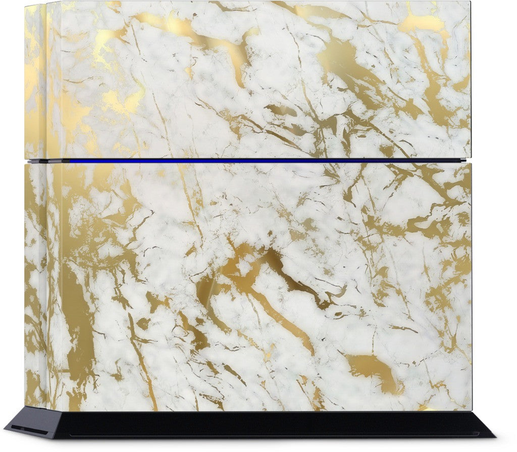 Gold Marble PlayStation Skin