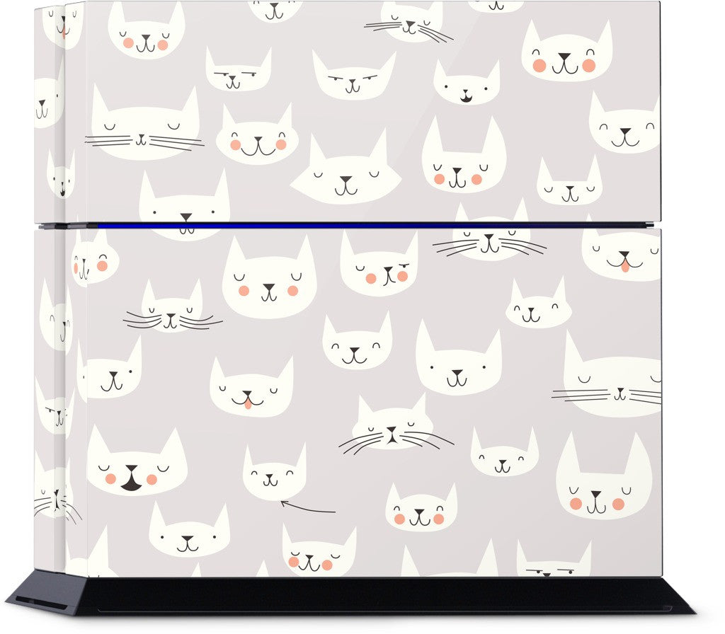 Cat Faces PlayStation Skin