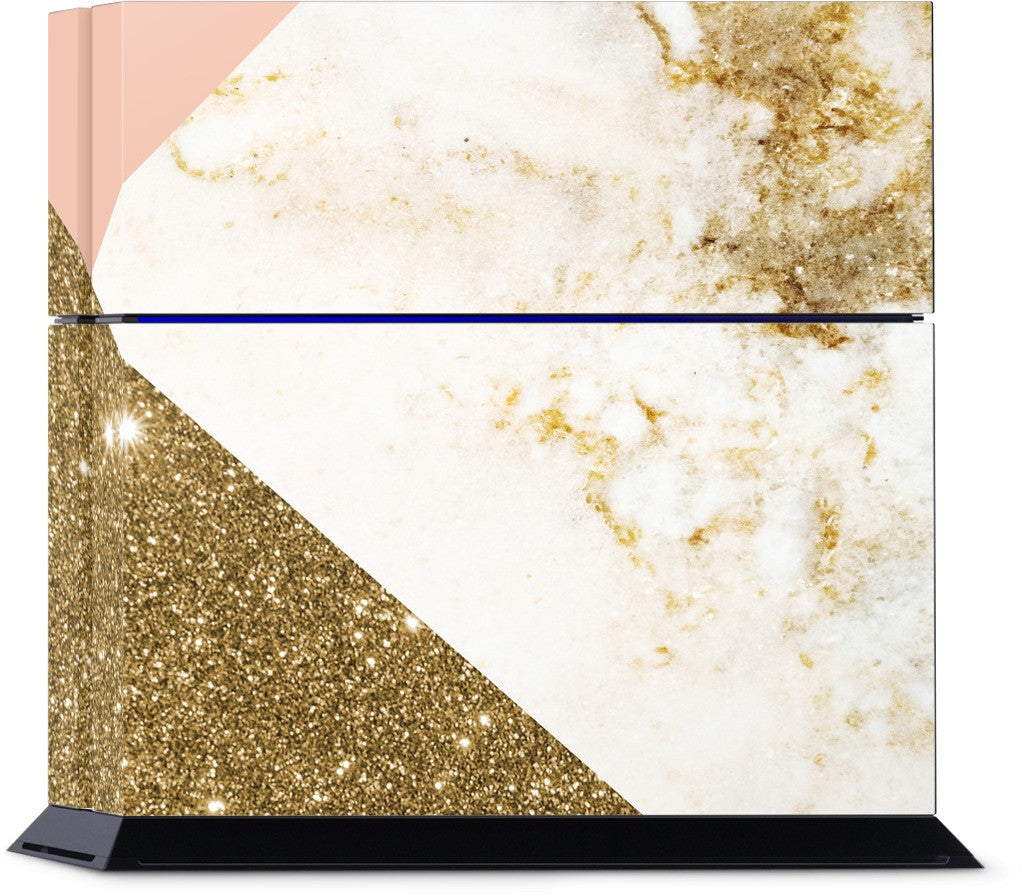 Gold Marble Collage  PlayStation Skin